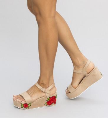 Обувки на Платфрома Синди Бежови