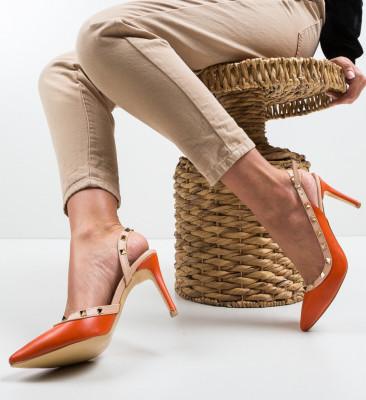 Обувки Alenro Оранжеви