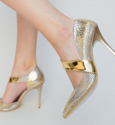 Обувки Monsa Златни