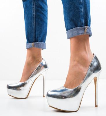 Обувки Nieve Сребърни