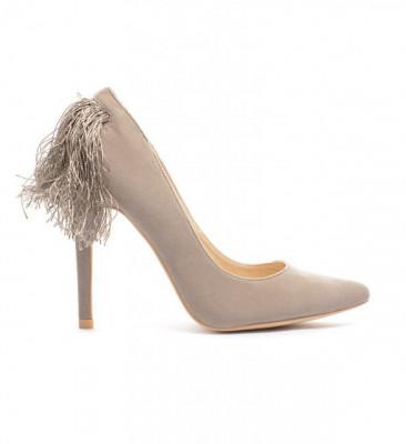 Обувки Албано Сиви