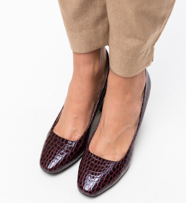 Обувки Fyn Гранатови
