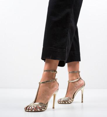 Обувки Jordanne Златни