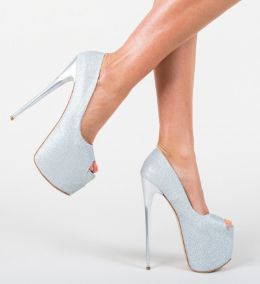 Обувки Munteania Сребърни