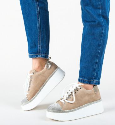Спортни обувки Pompu Бежов