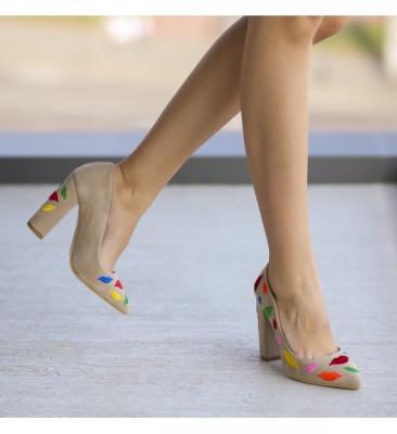 Обувки Липс Бежови