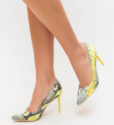 Обувки Aba Жълти