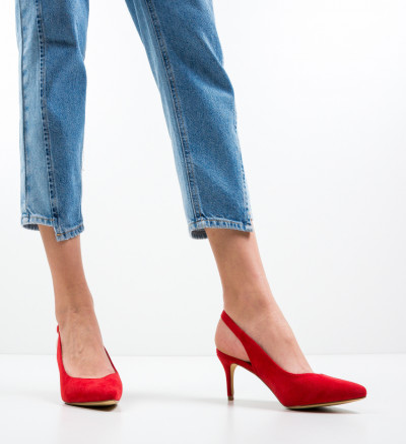 Обувки Chyna Червени