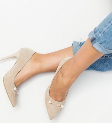 Обувки Delia Бежови2