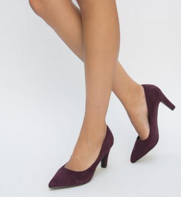 Обувки Erba Гранатови