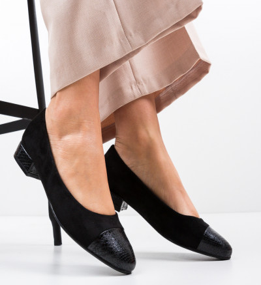Обувки Gwio Черни