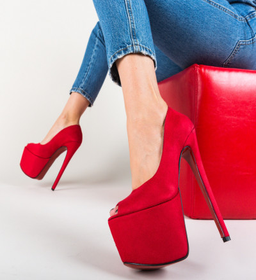 Обувки Jikos Червени