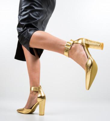 Обувки Nathan Златни