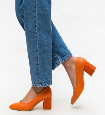 Обувки Samee Оранжеви