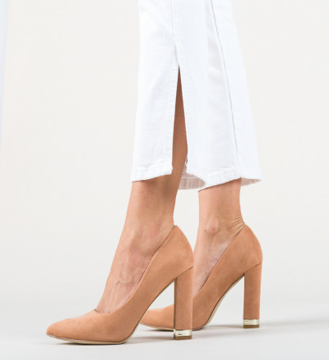 Обувки Sofie Бежов
