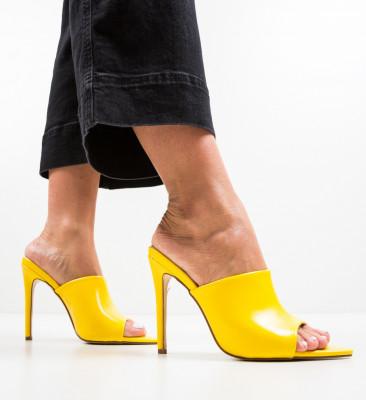 Сандали на ток Mirror Жълти