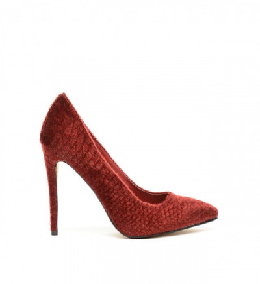 Обувки Бисо Гранатови
