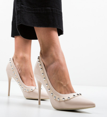 Обувки Aisli Бежов