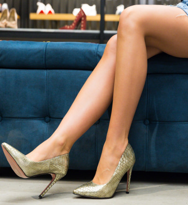 Обувки Dustin Златни 2