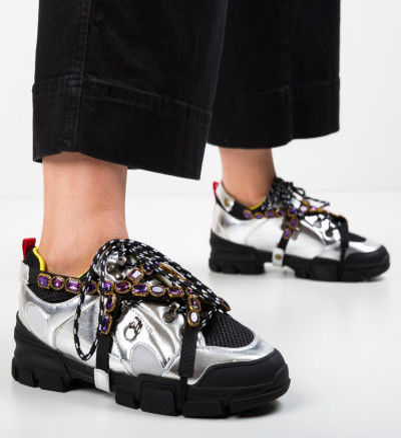 Спортни обувки Sears Сребърни