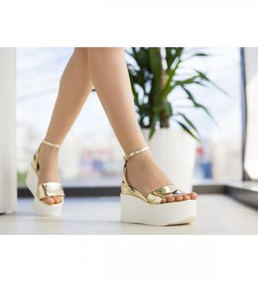 Обувки на Платфрома Миуро Златни