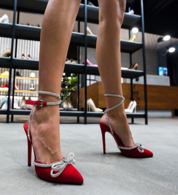 Обувки Bark Червени