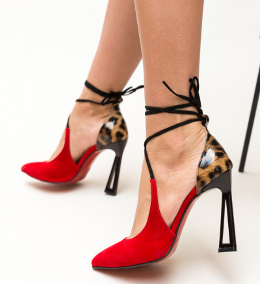 Обувки Hompi Червени