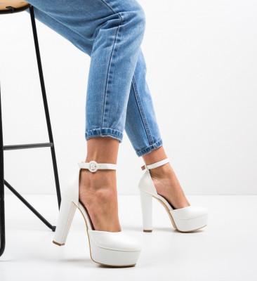 Обувки Krista Бели