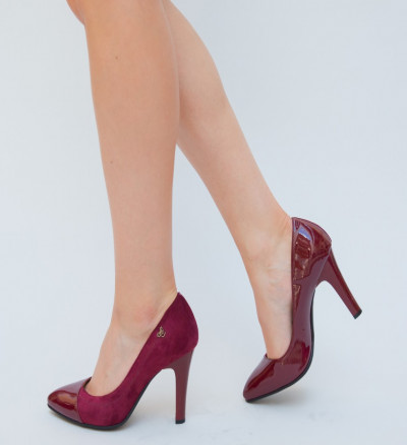 Обувки Silux Гранатови