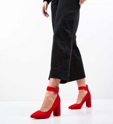 Обувки Zaina Червени