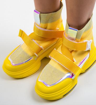Спортни обувки Tina Жълти