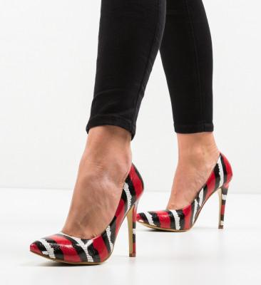 Обувки Aleah Червени