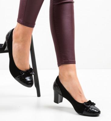 Обувки Almopa Черни