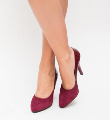 Обувки Gropi Гранатови