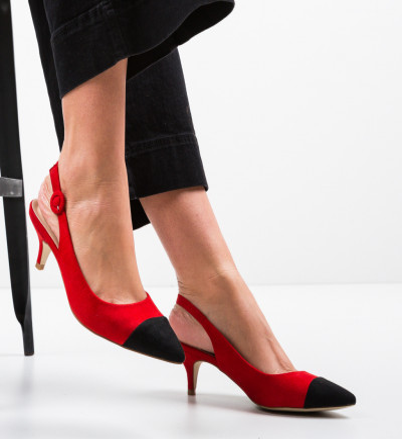 Обувки Harrel Червени