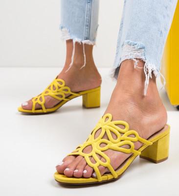Сандали на ток Dajoko Жълти