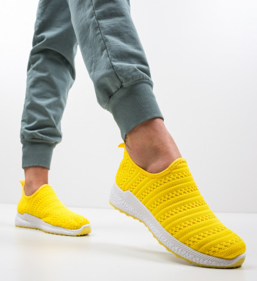 Спортни обувки Pope Жълти
