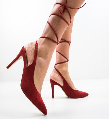 Обувки Melton Гранатов