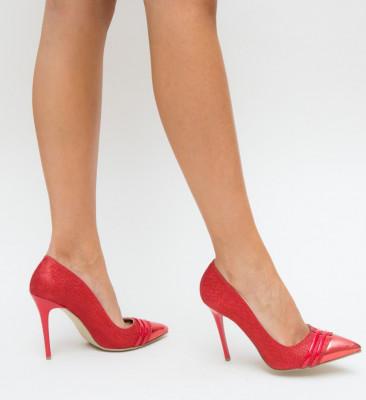 Обувки Sanex Червени