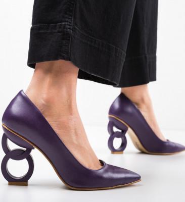 Обувки Simoni Лилав