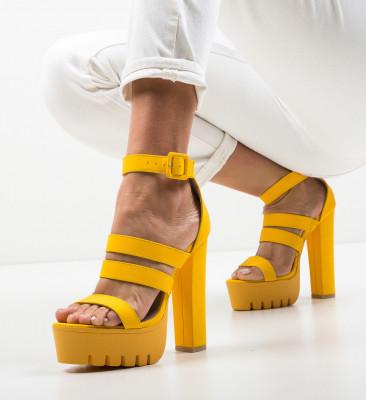 Сандали на ток Bannist Жълти