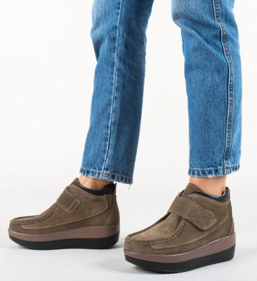 Ежедневни обувки Zahraa Каки