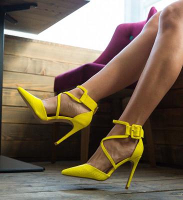 Обувки Cillia Жълти