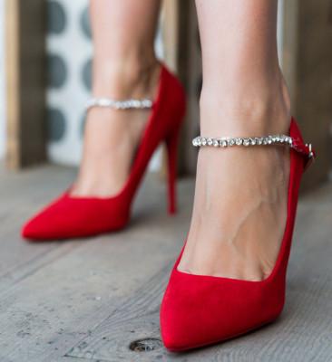 Обувки Histy Червени