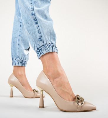 Обувки Link Бежов