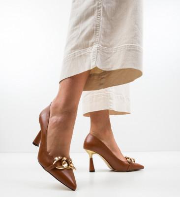 Обувки Link Кафяв
