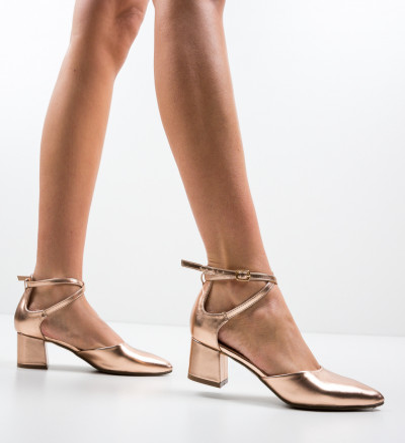 Обувки Sandiko Златни