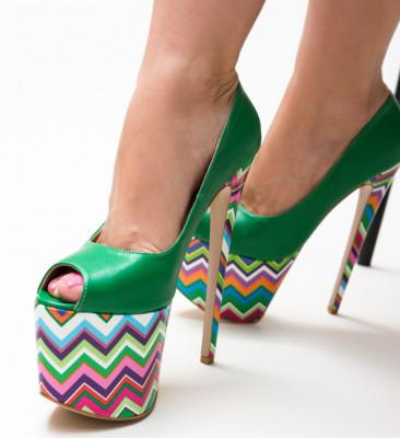 Обувки Valeria Зелени