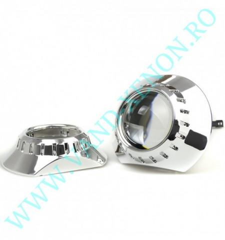Lupe Xenon 2.5 inch- KIT de proiectoare Bi-Xenon CarTech