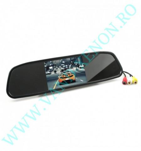 Senzori de parcare cu afisaj in oglinda si camera Cartech SM701